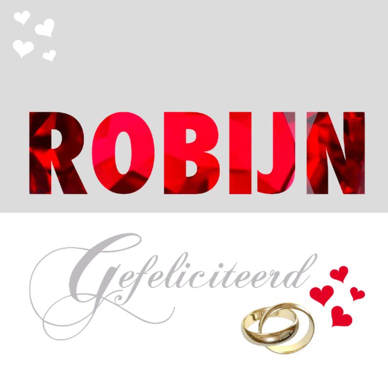 Felicitatiekaart huwelijk robijn felicitatiekaarten