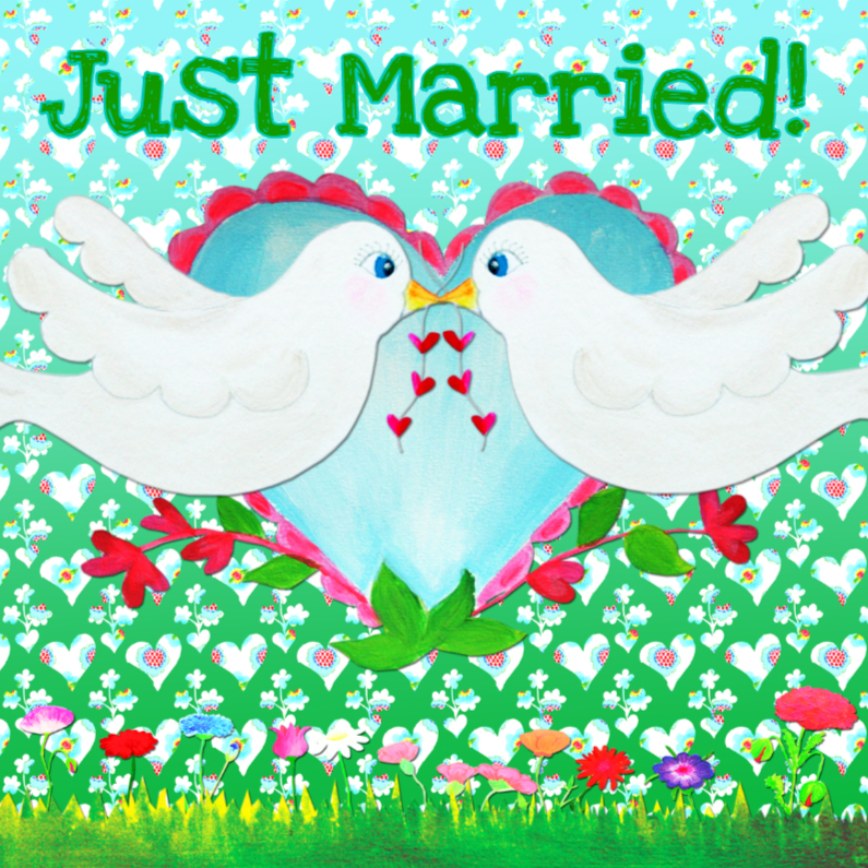 Felicitatiekaart Lover Birds PA 1