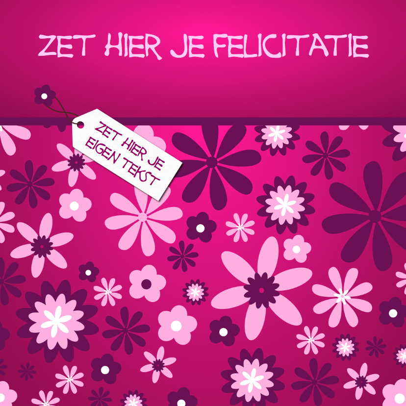 felicitatiekaart met bloem 1
