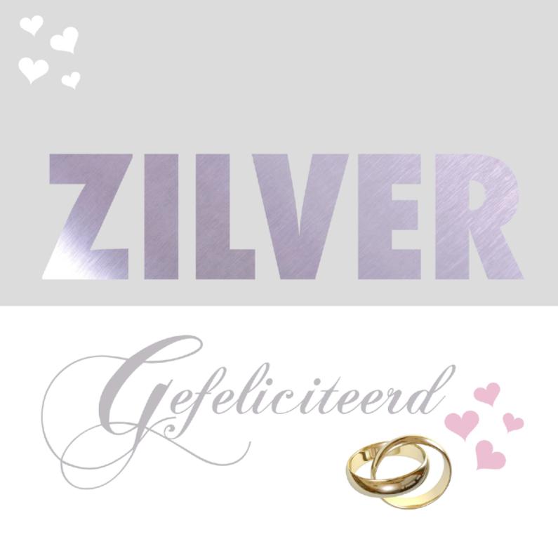 felicitatiekaart zilveren huwelijk 1