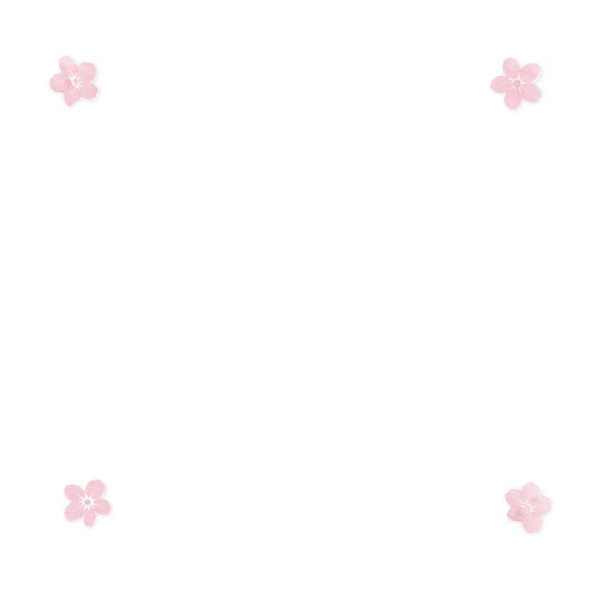 Felicitatiekaarten - roze bloem 3