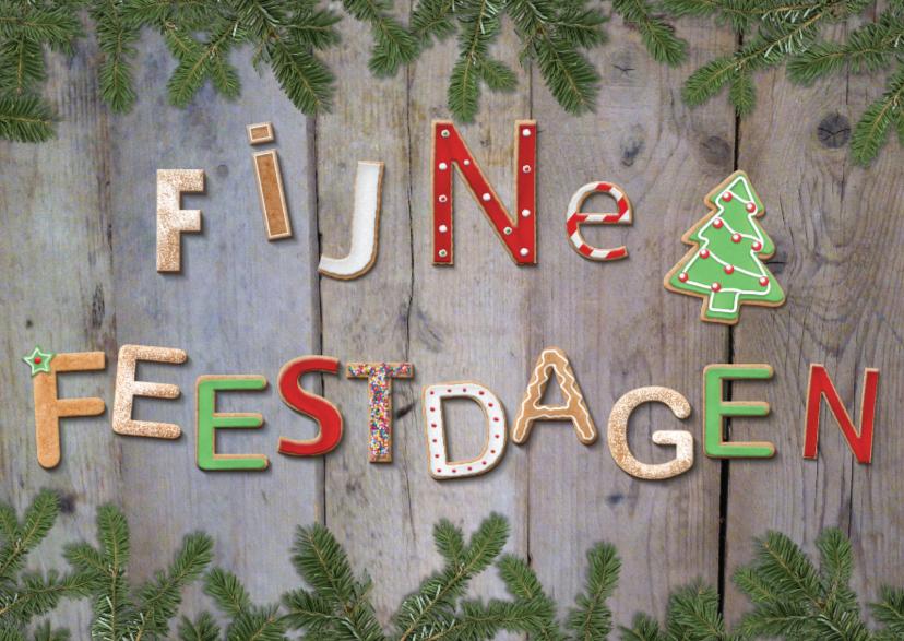 Fijne feestdagen koekletters - kerstboom 1