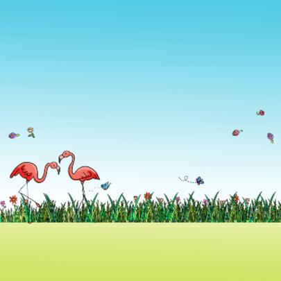 Flamingo en VW bus 2
