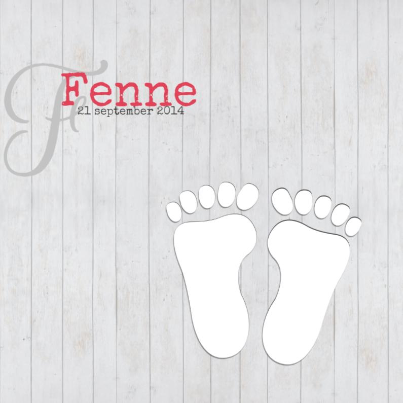 Footprints op hout 1