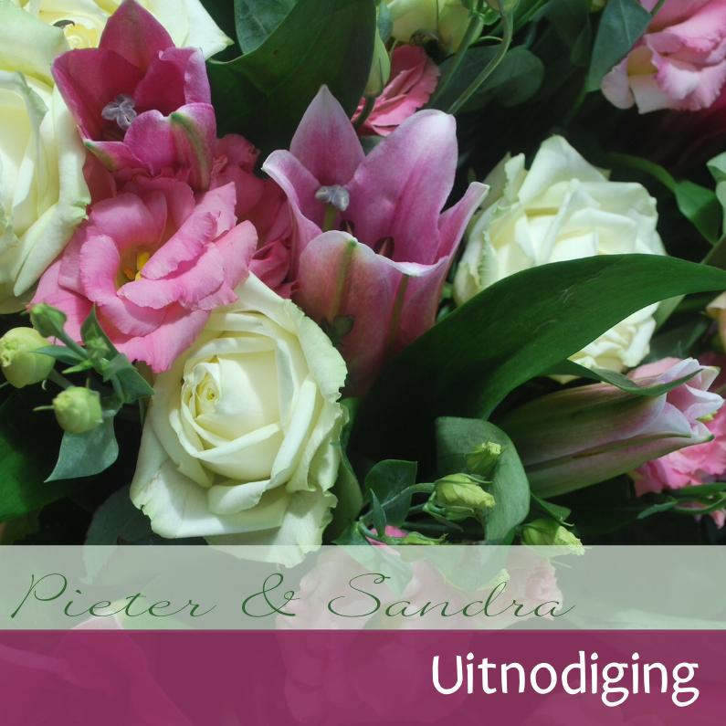 Fotokaart rozen en lelie 1
