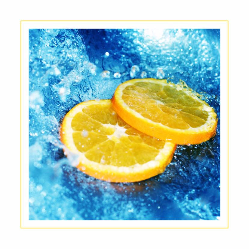 Frisse kaart met sinaasappelschijfjes 1