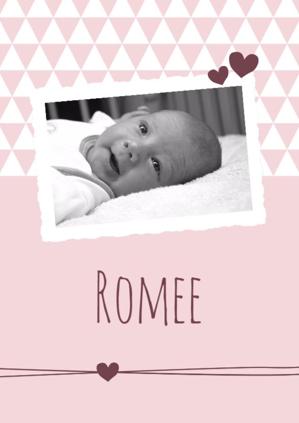 Geboorte - Foto, roze driehoek 1