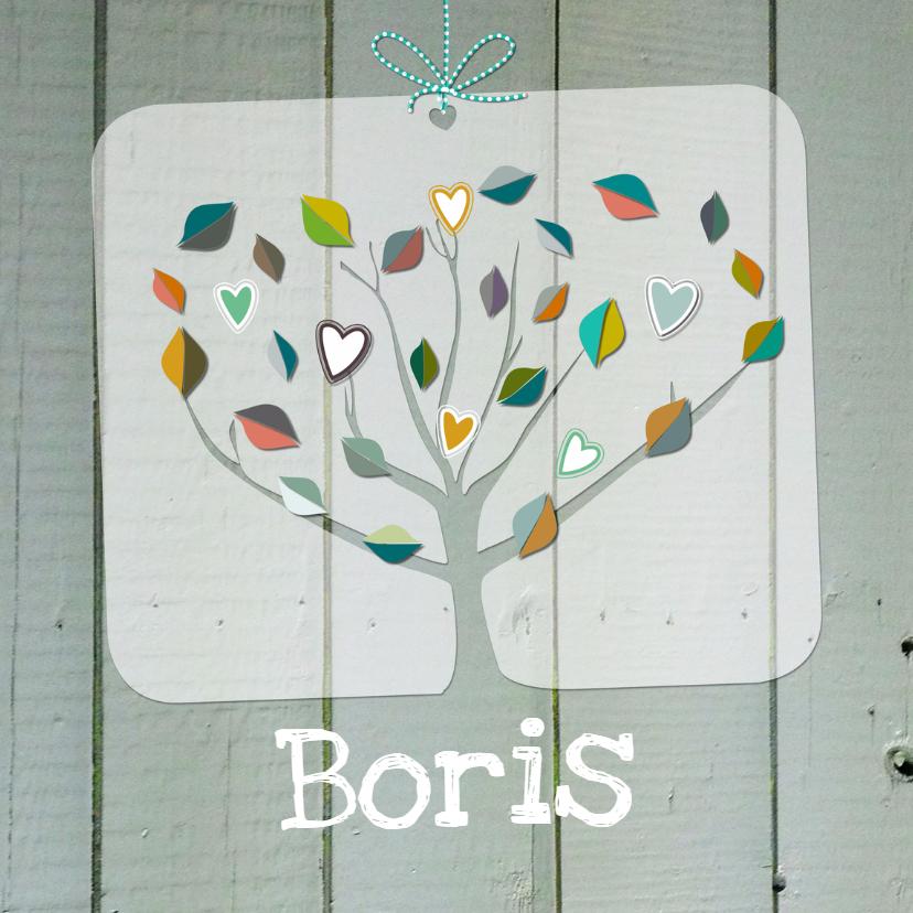Geboorte hart boom hout  1