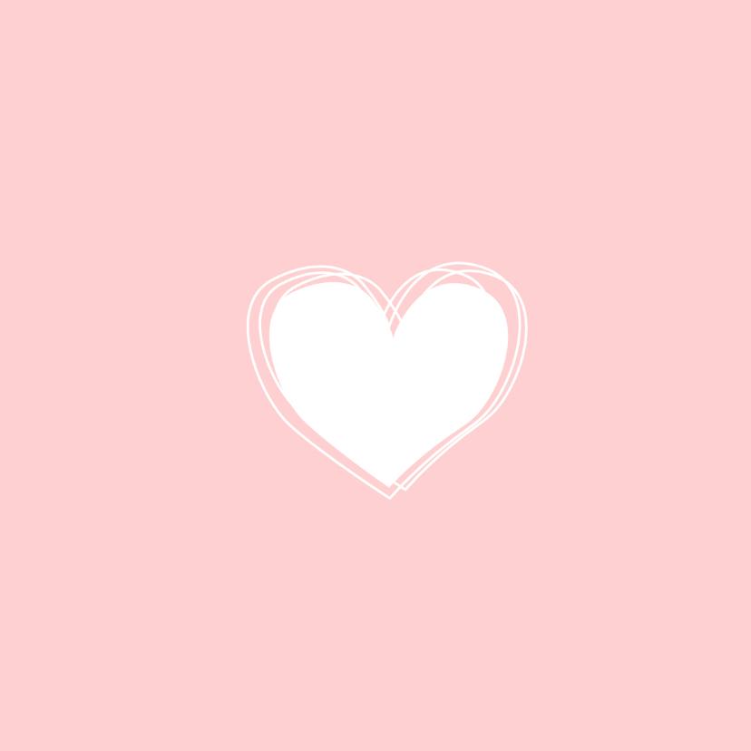 Geboorte - Harten, lijnen, roze 2