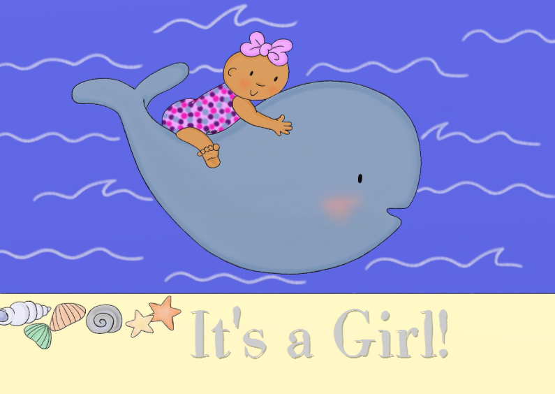 Geboorte Its a Girl Walvis - TbJ 1