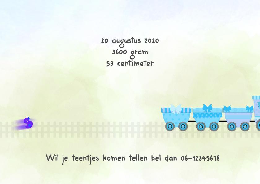 Geboorte jongen met trein 3