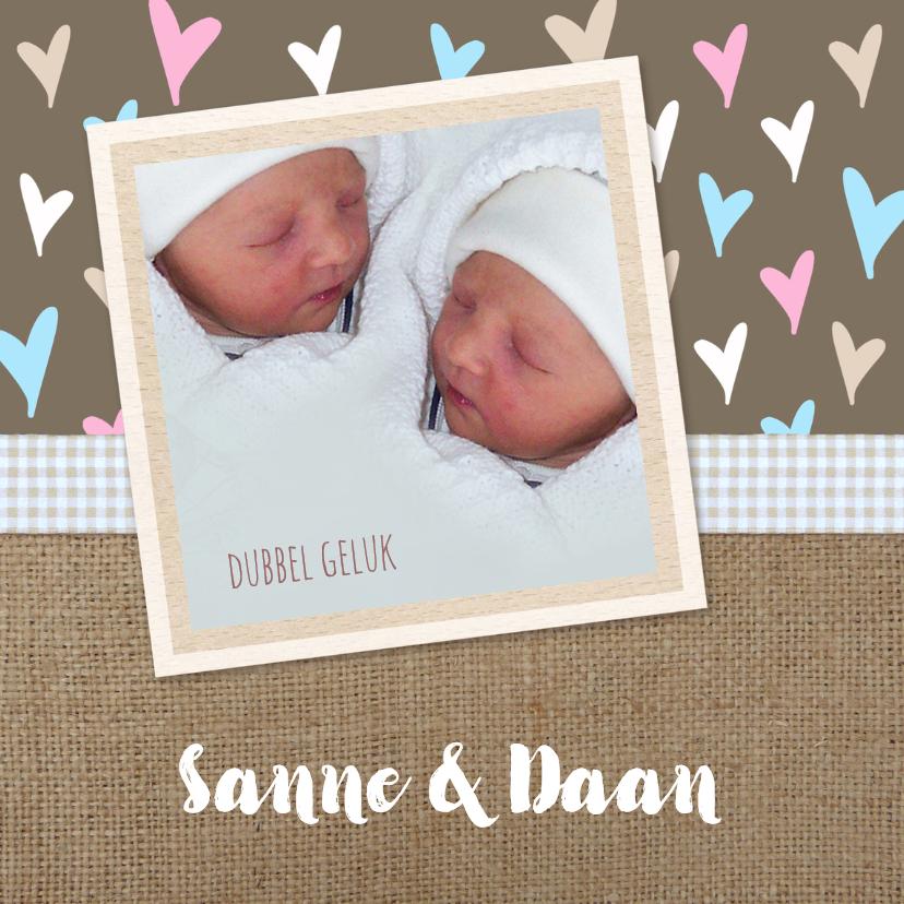 Geboorte Jute hartjes twins 1