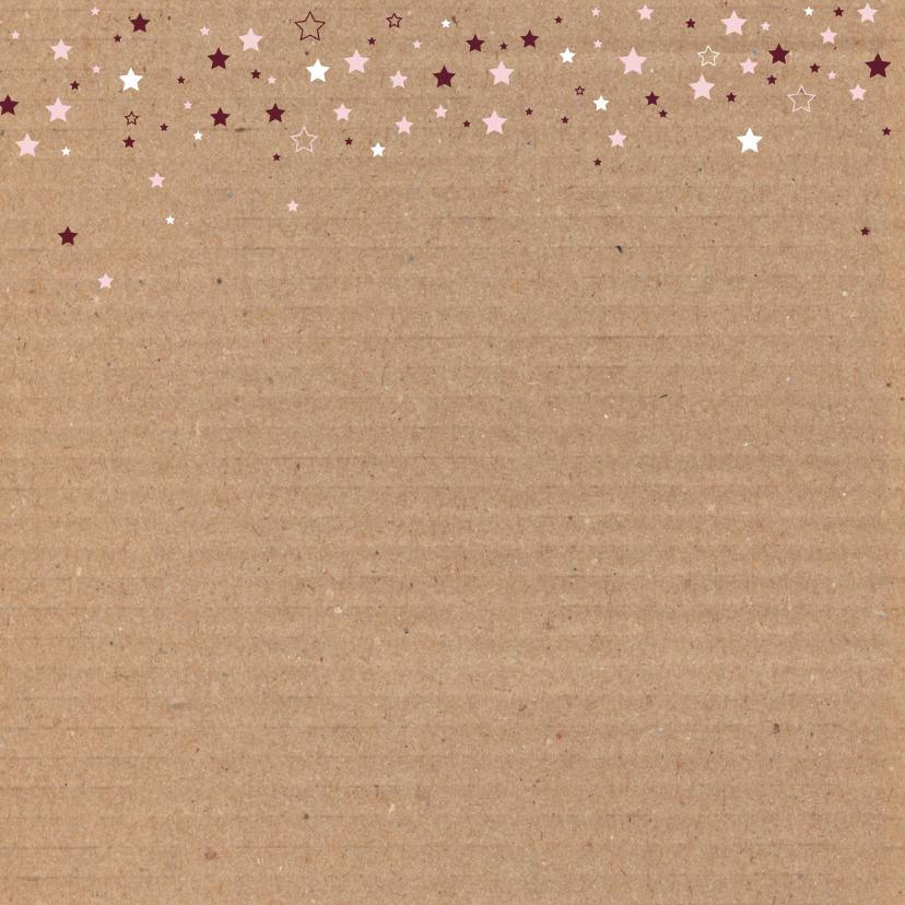 Geboorte-Karton, sterren, meisje 2