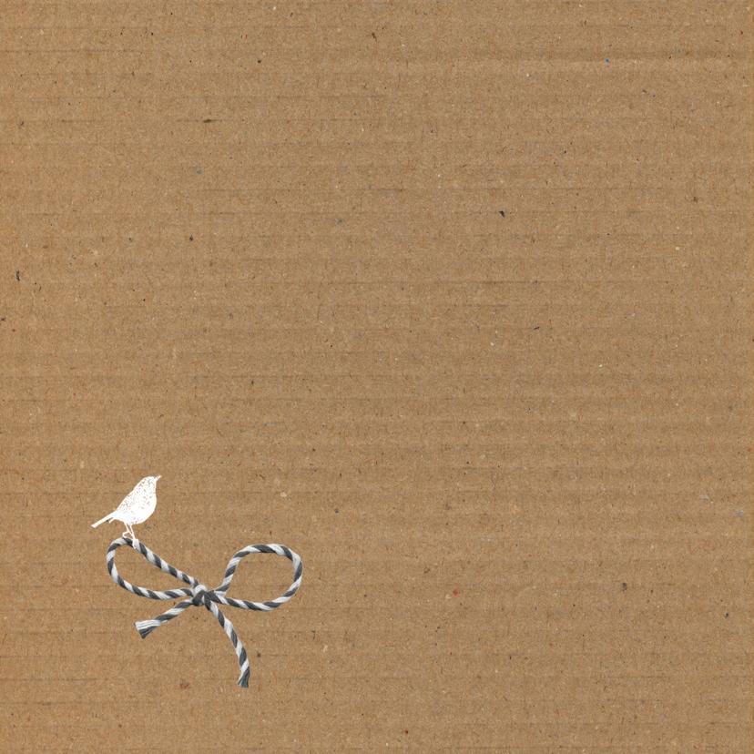 Geboorte - Karton strikje jongen 2