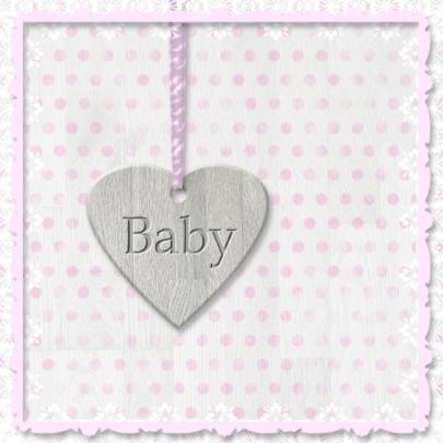 Geboorte kleindochter - houten hart 2