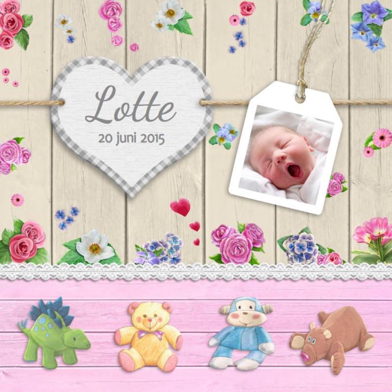 Geboorte knuffels en hart m 1