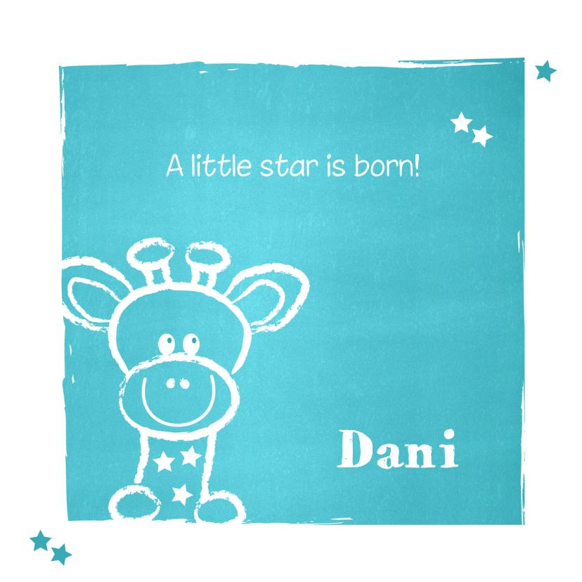 Geboorte lief giraffe blauw 1