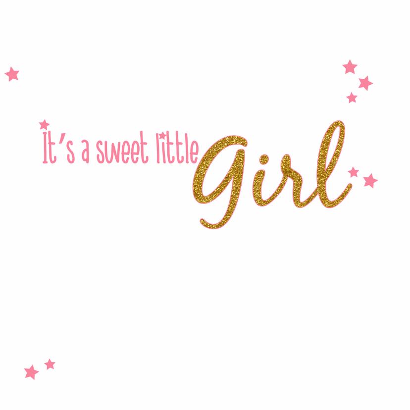 Geboorte Lief roze baby kaartje 3