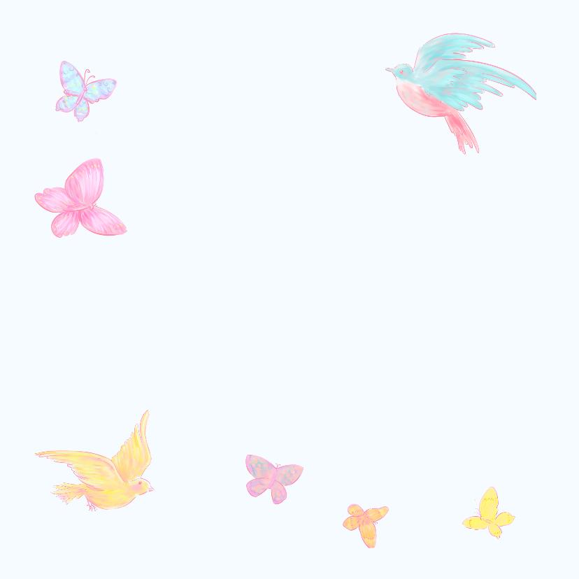 Geboorte Meisje Vogels Vlinders  2