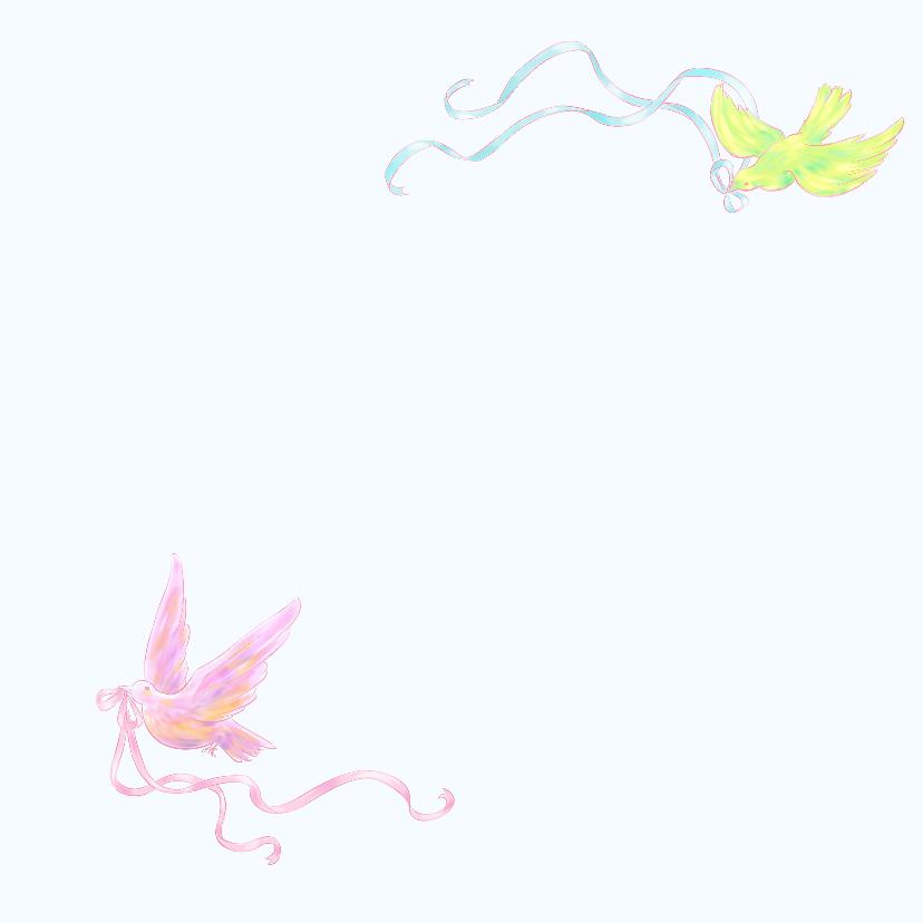 Geboorte Meisje Vogels Vlinders  3