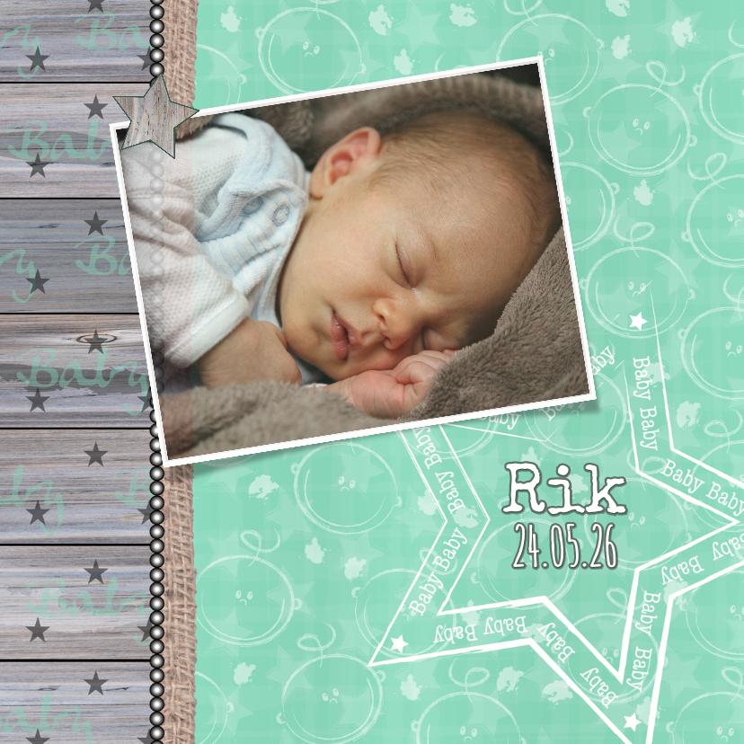 Geboorte mintgroen ster foto 1