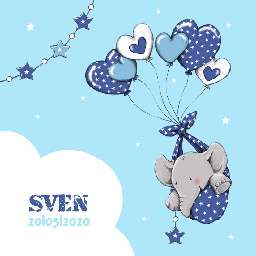 Geboorte olifant hartballon - IH 1