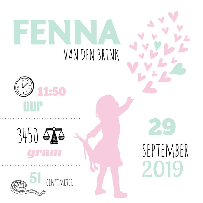 Geboorte silhouet fenna - B 1