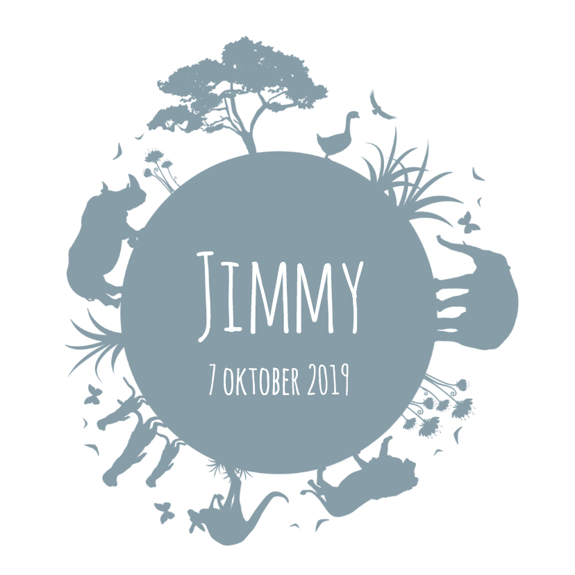 Geboorte silhouet jimmy - B 1