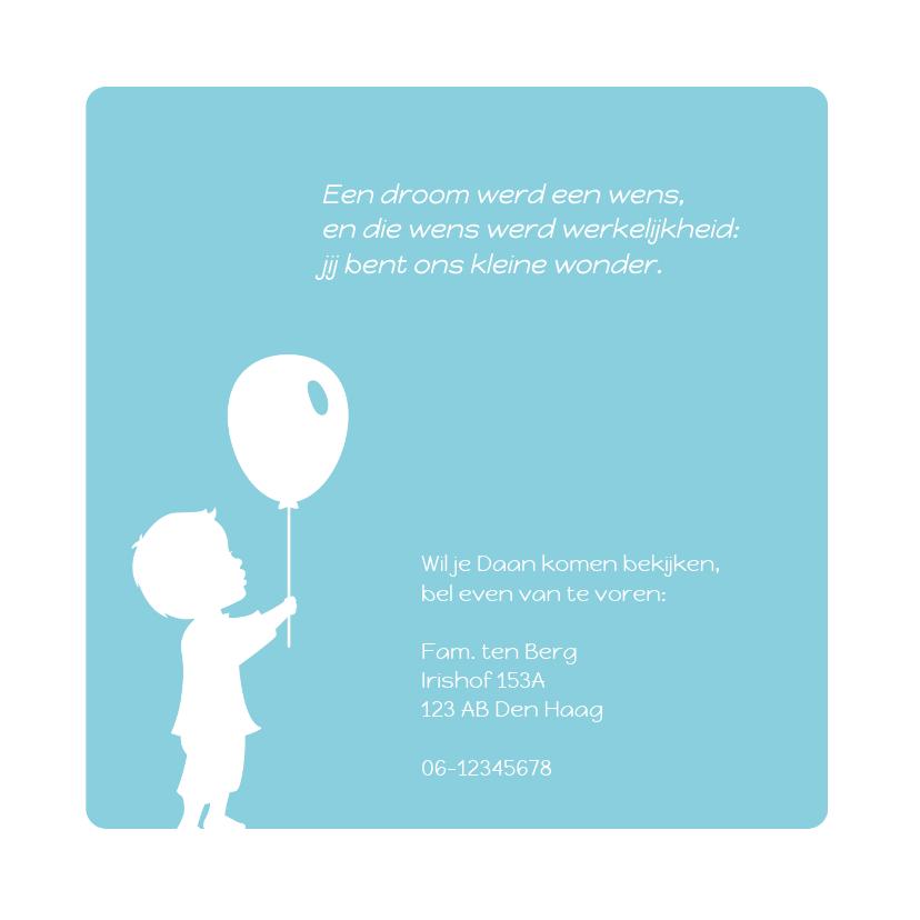 Geboorte Silhouet Jongen Ballon 2