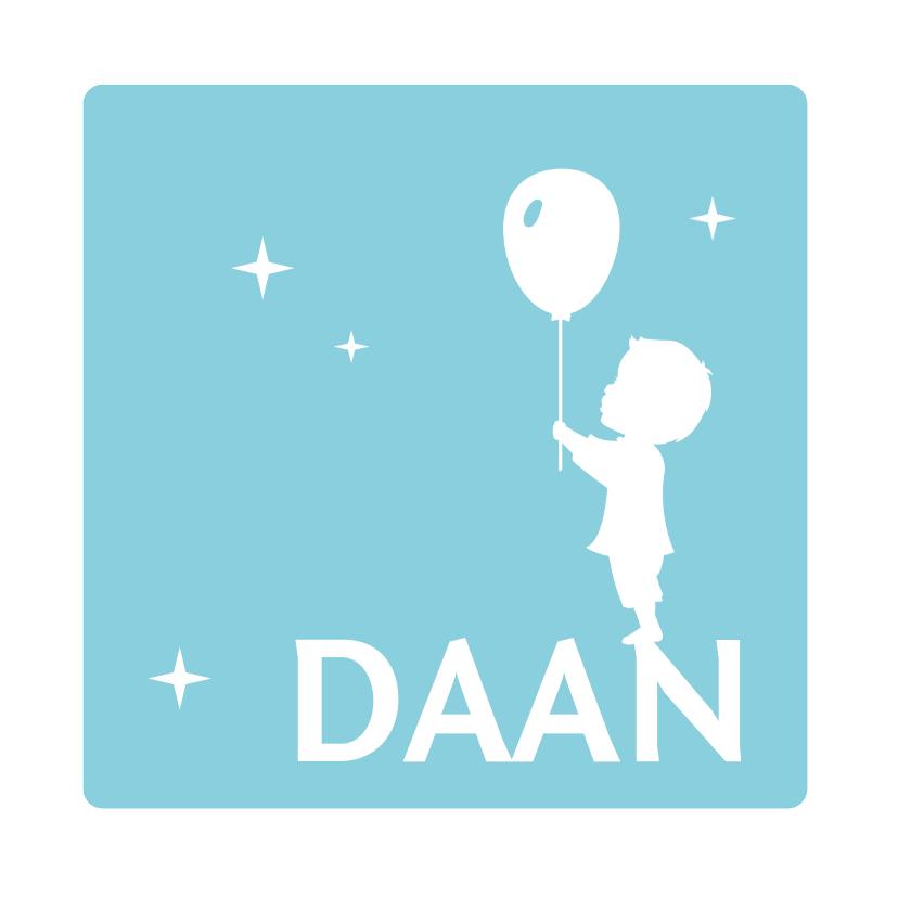 Geboorte Silhouet Jongen Ballon 1
