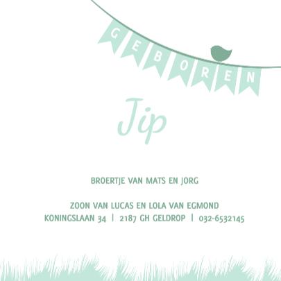 Geboorte silhouette jip - B 3