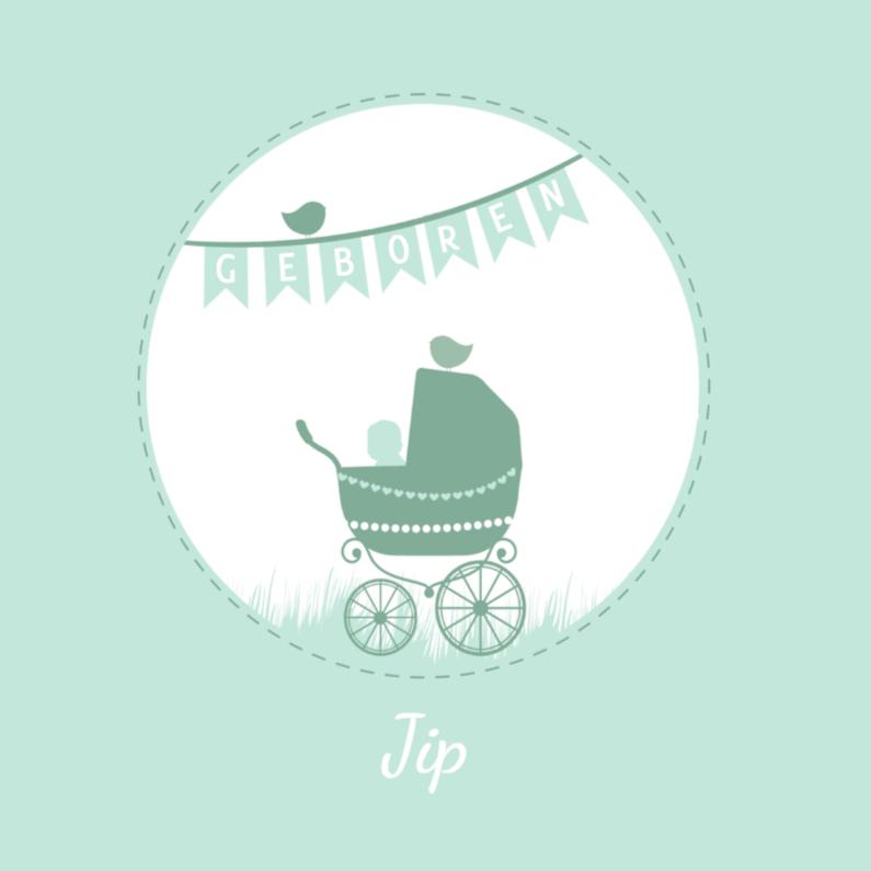 Geboorte silhouette jip - B 1