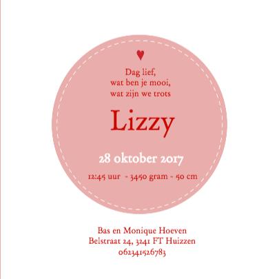 Geboorte silhouette lizzy - B 3