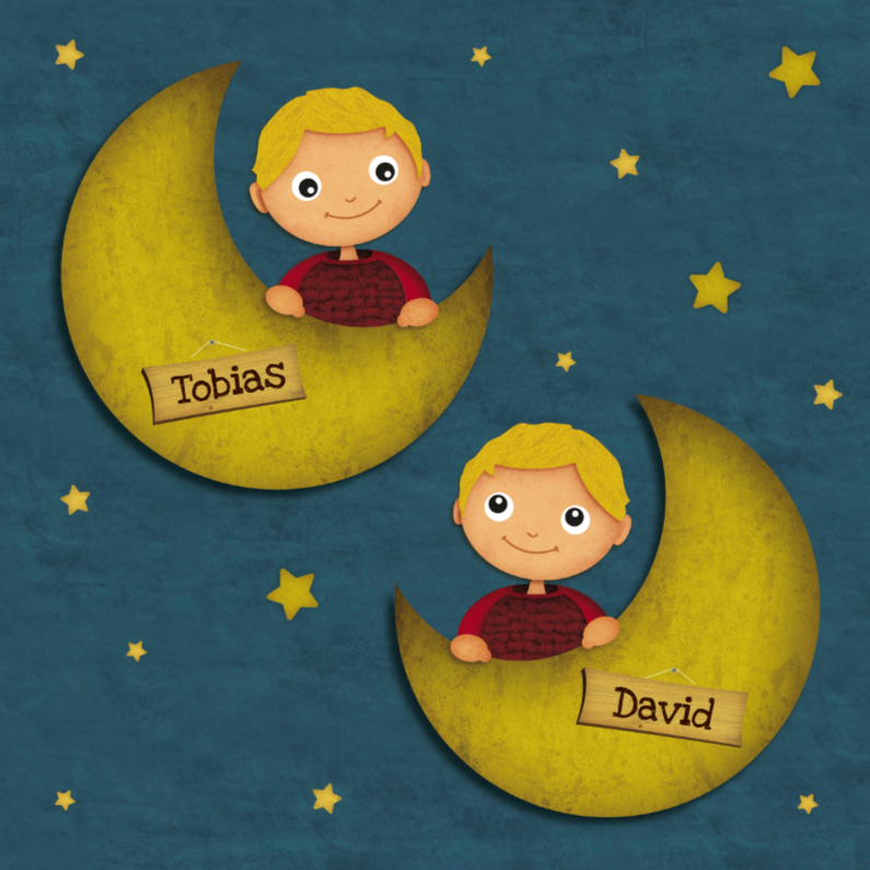 Geboorte Tweeling Jongens Maan 1