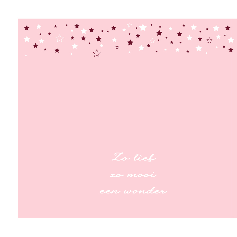 Geboorte - Veel sterren meisje 2