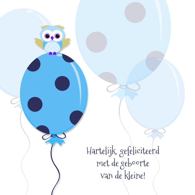 Geboorte vieren,  blauwe ballon 1