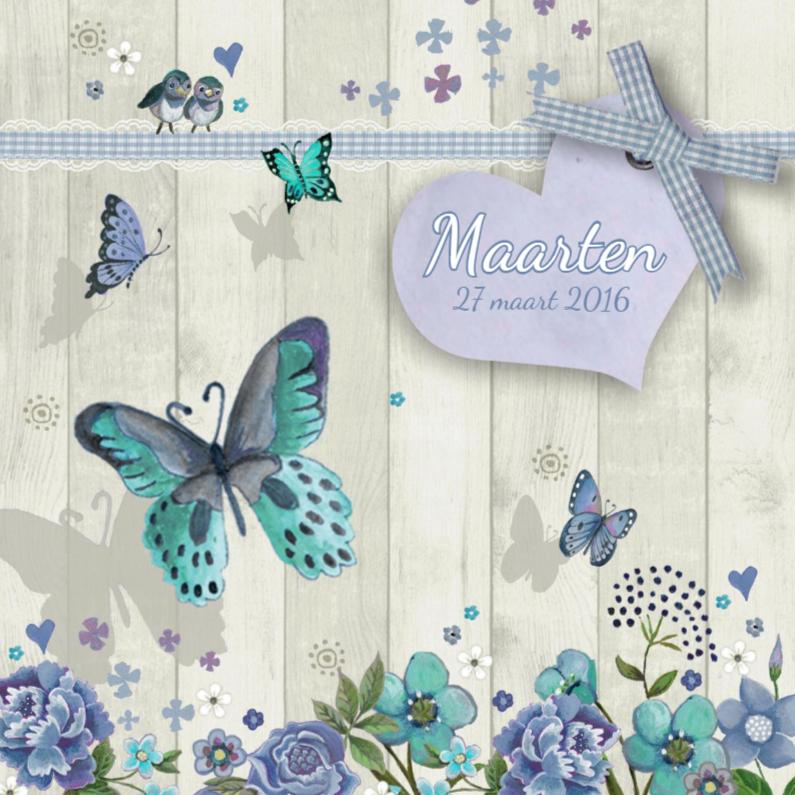 Geboorte Vlinder Hartje Jongen 1