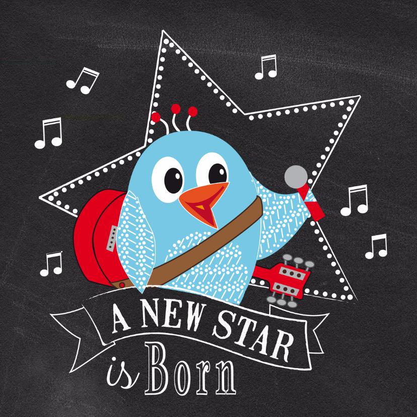 Geboortekaart a new star 1