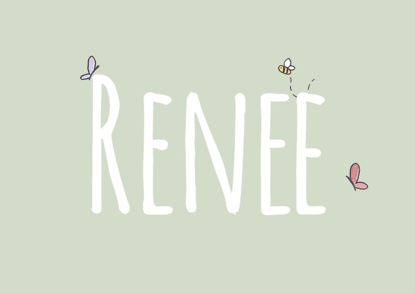 Geboortekaart Beestjes Renee LFZ 1