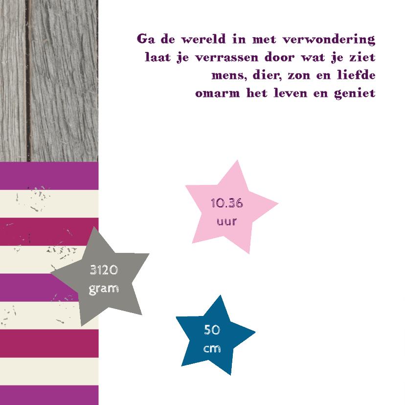Geboortekaart Girl Star 2