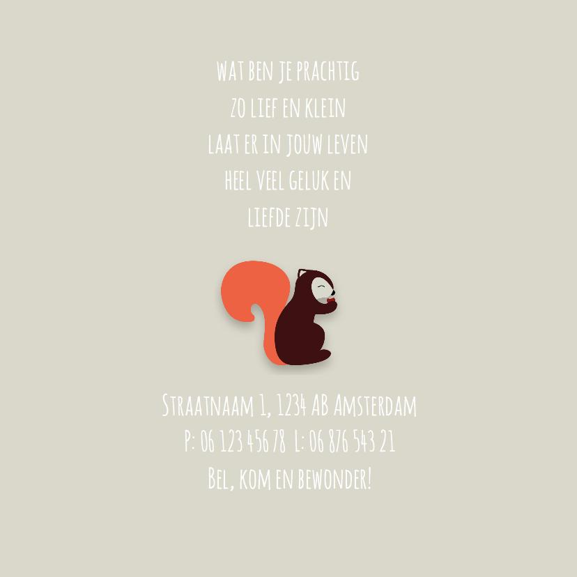 Geboortekaart | J | Eekhoorn 2