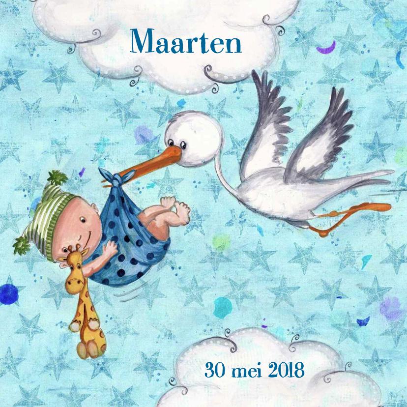 Geboortekaart Jongen & Ooievaar Cartita 1