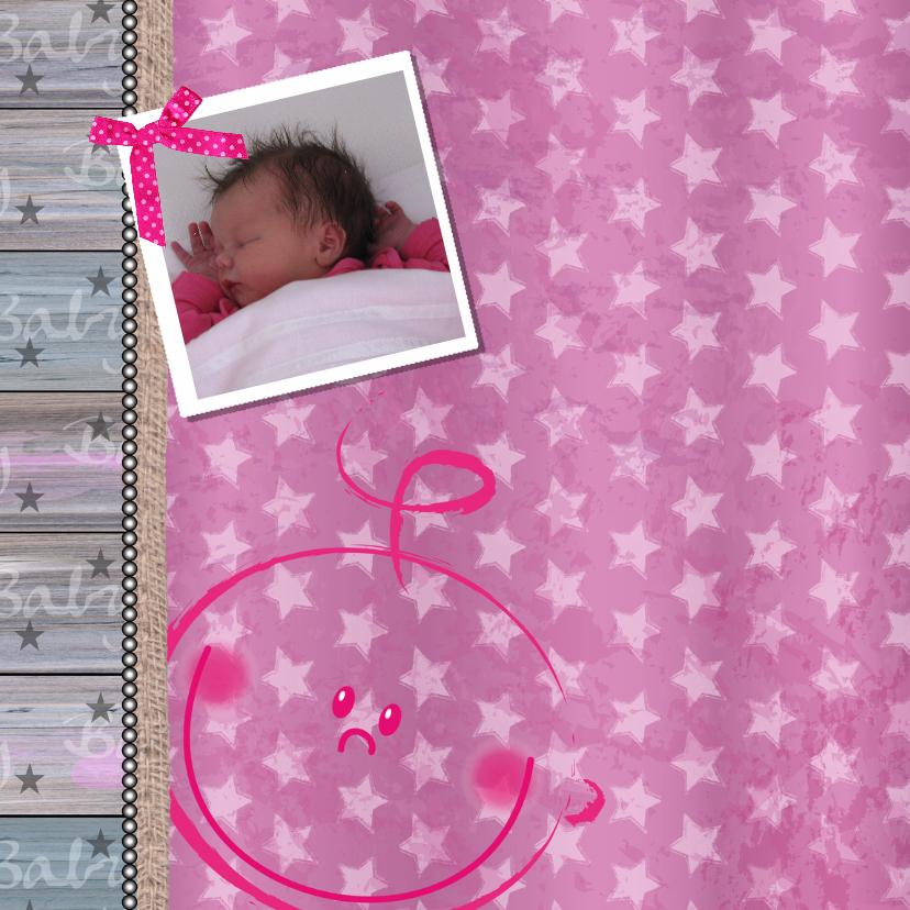 Geboortekaart lief meisje foto 2