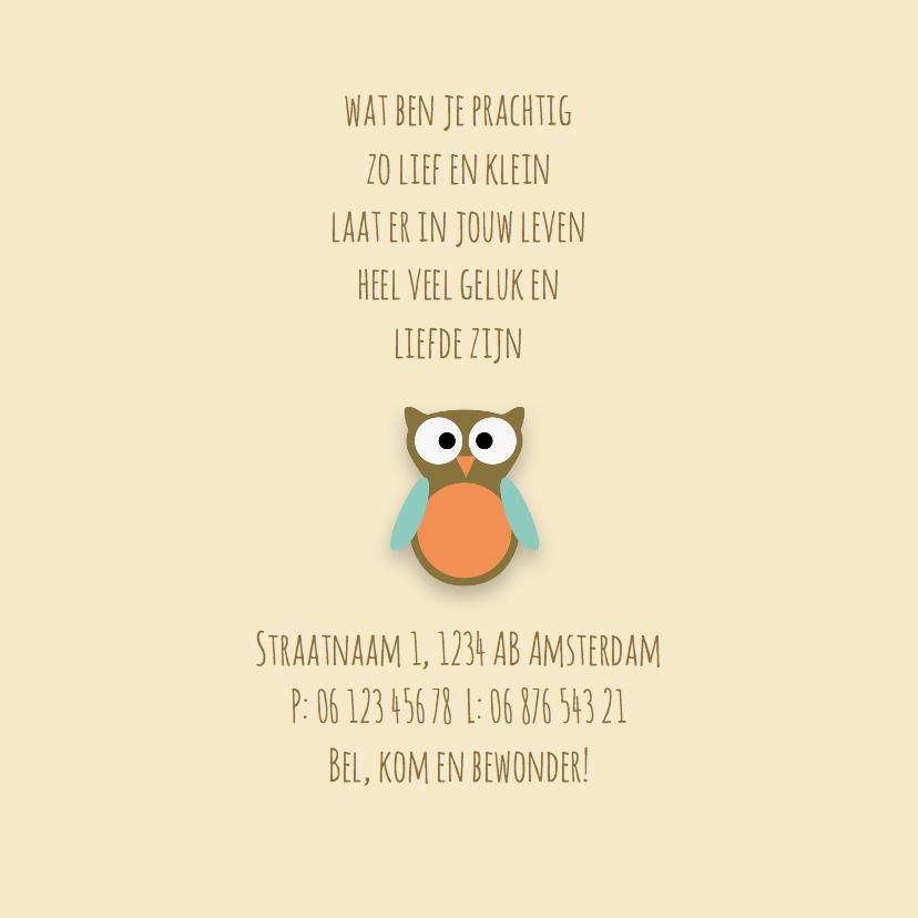 Geboortekaart | M | Uil 2