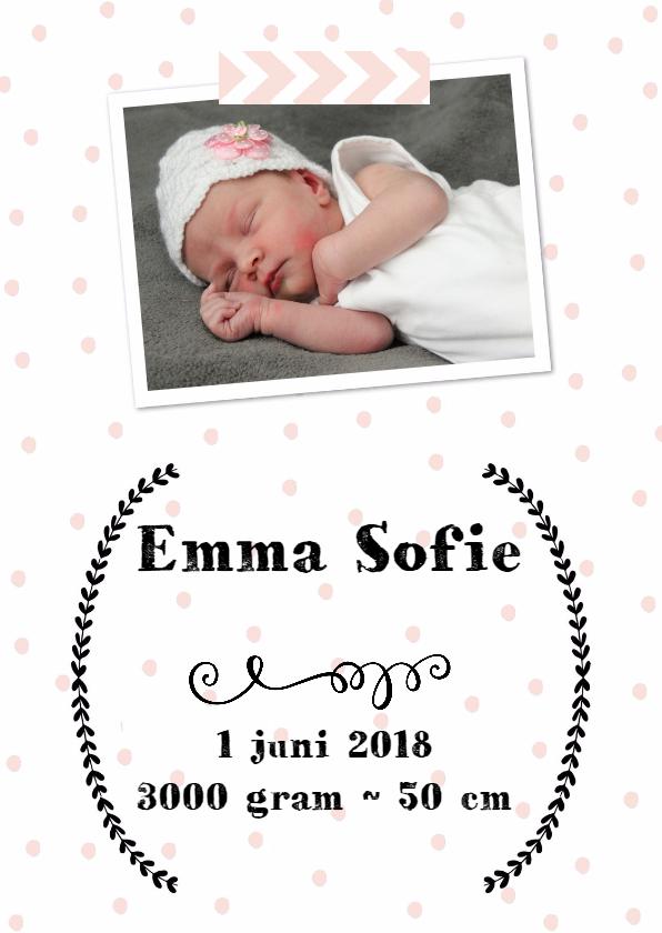 Geboortekaart Meisje - WW 1