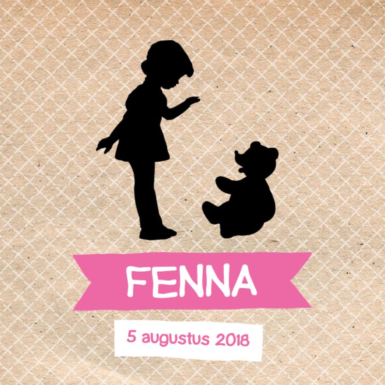 Geboortekaart Silhouette Fenna 1
