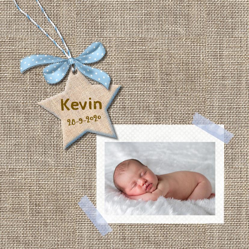 Geboortekaart ster voor jongen 1
