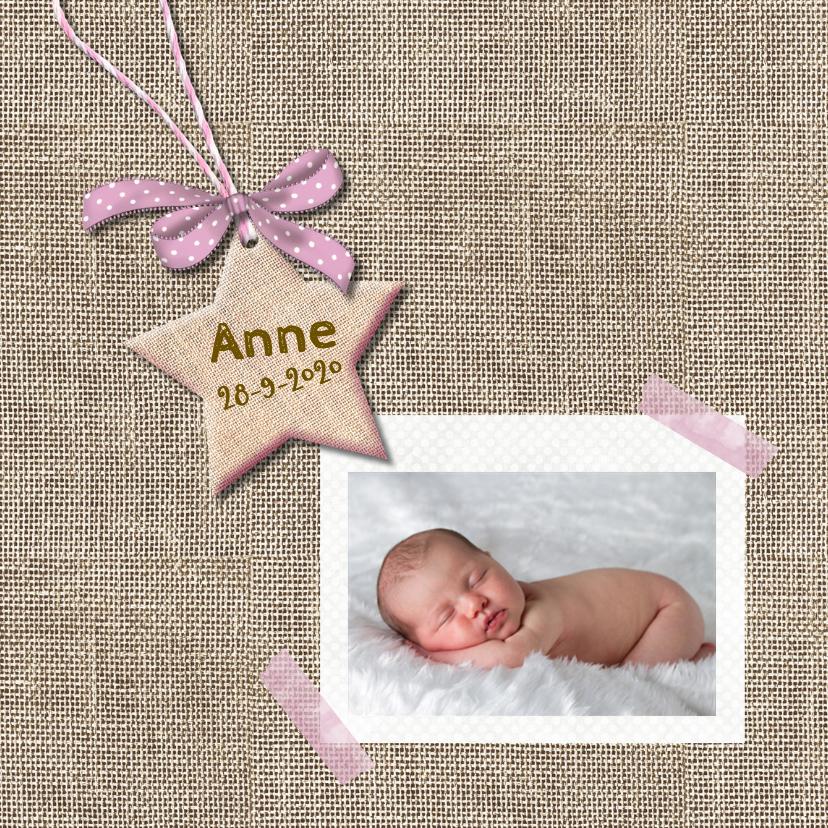 Geboortekaart ster voor meisje 1