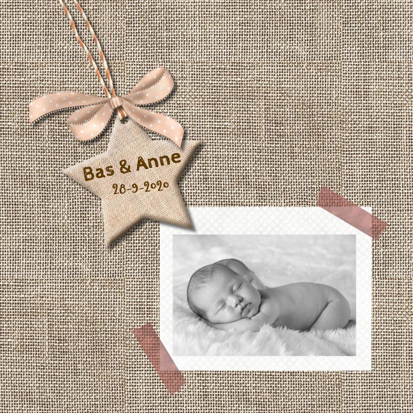 Geboortekaart ster voor tweeling 1