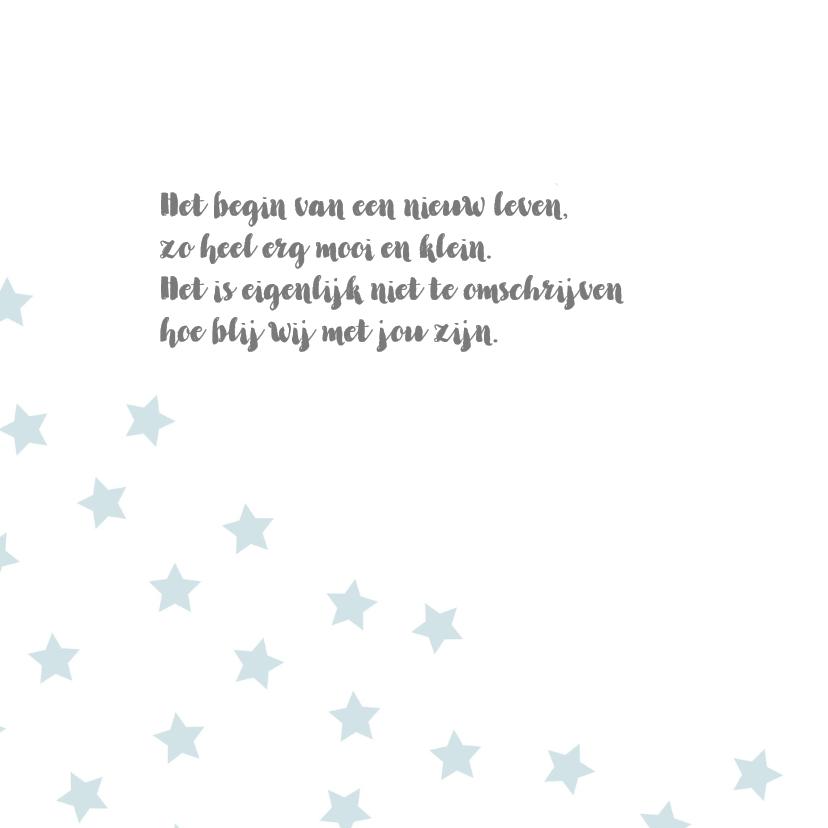 Geboortekaart sterren blauw - BC 2